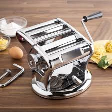 ksp grand manual pasta machine with suction stainless steel