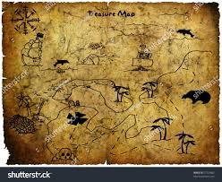 Hungry Shark Map Antique Treasure Map Stock Photo 57722800 Shutterstock