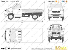 suzuki pickup the blueprints com vector drawing suzuki carry pick up