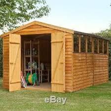 large garden sheds workshop 12 x 8ft outdoor wooden storage diy