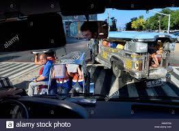 philippines motorcycle taxi philippines luzon island manila ermita district jeepney stock
