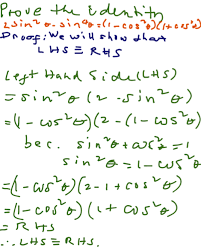 proving trigonometric identities 2 k 12 math problems