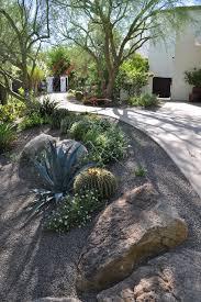 Front Yard Desert Landscape Mediterranean Exterior Desert Landscaping Mediterranean Landscape Phoenix By