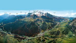 Dolomites Italy Map by Hiking Arabba Fodom Dolomites Italy