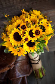 yellow bridal bouquets sunflower weddings sunflowers and wedding