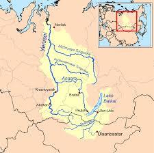 Volga River Map Angara River