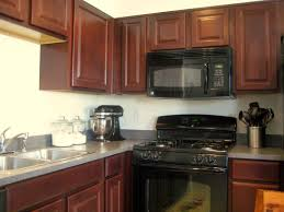 Cherry Wood Kitchen Cabinets Black Kitchen Appliances With Oak Cabinets Outofhome