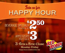 the challenge robin happy hour specials