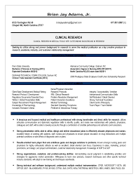 clinical research associate resume sample top 5 clinical research