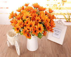 Decorative Flowers For Home by Online Get Cheap Orange Artificial Flowers Aliexpress Com