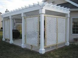 white lattice this porch has white lattice panels