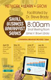small business breakfast series facilitated by steve brady james