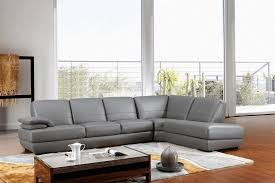 furniture luxury grey leather sectional for elegant living room