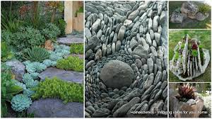 Small Rocks For Garden Backyard Rock Garden Ideas For Front Yard Small Front Yard