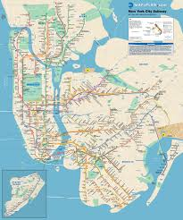 Amsterdam Metro Map by New York City Subway Metro Map With Bus And Railroad Connections