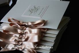 Wedding Programs With Ribbon Wedding Invitations With Rhinestone Isabella Invitations