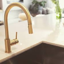 aquabrass kitchen faucets aquabrass studio kitchen faucet in a custom brushed brass finish