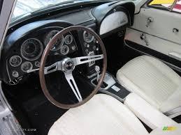 white corvette interior white black interior 1964 chevrolet corvette sting coupe photo