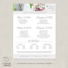 wedding album prices 36 best price list templates images on photography