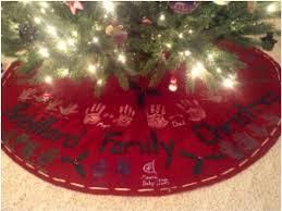 how to make a no sew handprint christmas tree skirt one hundred