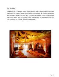 preparation of event plan for wedding event management