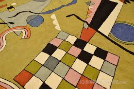 Modern Green Rugs by Kandinsky Airplane 6ft X 4ft Wool Rug Tapestry Green Hand