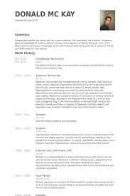 It Technician Resume Examples by Installation Technician Resume Samples Visualcv Resume Samples