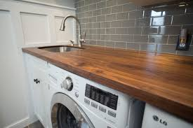 drop in utility sink stainless walnut counter with stainless undermount sink craftsman incredible