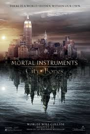The Mortal Instruments: City of Bones Movie Poster Featuring Lily Collins and Jamie Campbell Bower