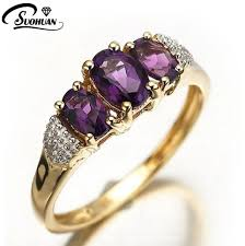 aliexpress buy anniversary 18k white gold filled 4 wholesale fashion purple jewelry amethyst rings cz ip