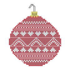 christmas cross stitch pattern christmas ornament cross stitch