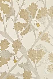 feuille de chene wallpaper ivory wallpaper with metallic silver