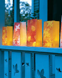 autumn leaf luminarias u0026 video martha stewart