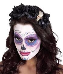 La Muerte Costume La Muerte Mexican Day Of The Dead Ladies Girls Black Hairband