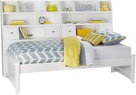 rooms to go twin beds ivy league white 5 pc full bookcase daybed ivy league daybed and