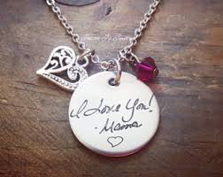 personalized engraved jewelry handwriting jewelry etsy