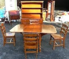 vtg antique hampshire house colonial rock maple dining table chair