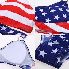 Usa Flag Photos Women Stars Stripes Usa Flag Set 2017 Bandage Padded