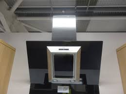 ex display kitchen island ex display cda evg9bl designer angled glass extractor hood chimney