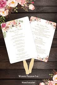 wedding fan program sle wedding fan programs templates picture ideas references