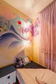 fresque chambre fille design interieur fresque murale chambre enfant dessin abstrait