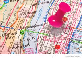 A Map Of New York by Signs And Info A Push Pin In New York Stock Image I1802075 At