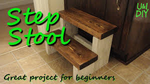 Free Wooden Folding Step Stool Plans by Step Stool Diy Tutorial Youtube