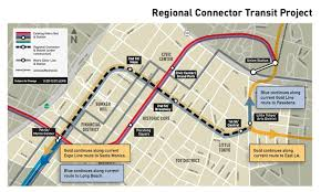 Los Angeles Metro Rail System Map by Regional Connector Transit Corridor Us Department Of Transportation