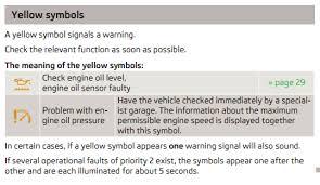oil pressure warning light oil pressure warning light skoda octavia mk ii 2004 2013