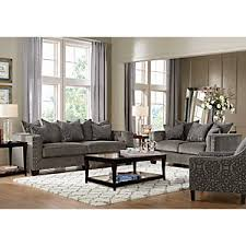 Rooms To Go Sleeper Loveseat Cindy Crawford Home Sidney Road Gray 5 Pc Living Room Living