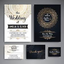 Vintage Wedding Invites Vintage Wedding Cards With Mandala Elements Vector Free Download