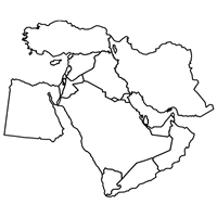 outline map middle east outline map of middle east logo vector eps free