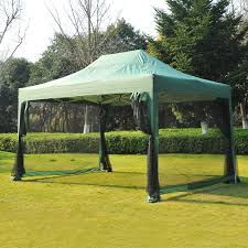 gazebo heavy duty outsunny 4 5x3m heavy duty pop up gazebo green aosom co uk