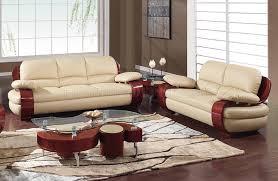 965 sofa u0026 loveseat set in leather by global furniture usa
